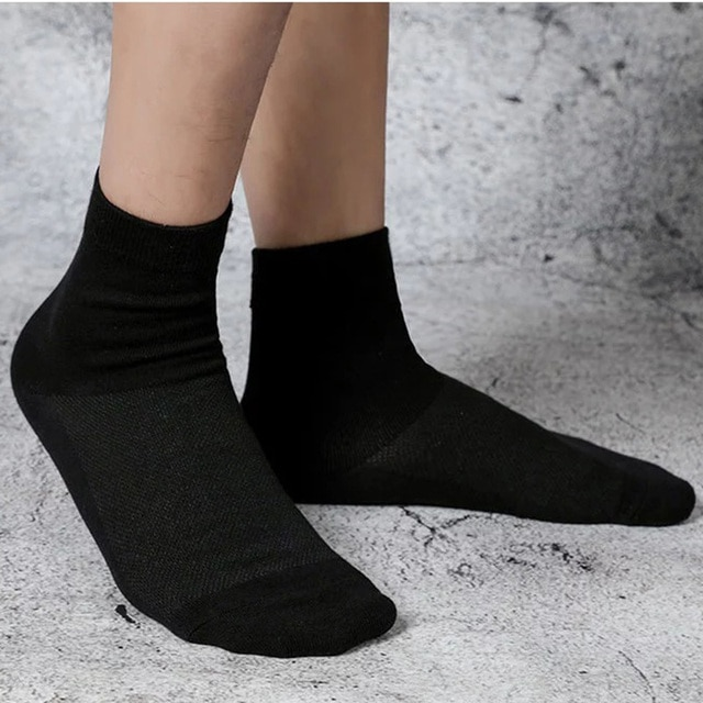 5 Pairs Lot Spring Summer Men's Cotton Socks Soft Breathable Dress Shoes Clothes For Man Compression Crew Socks Size 36-43 6