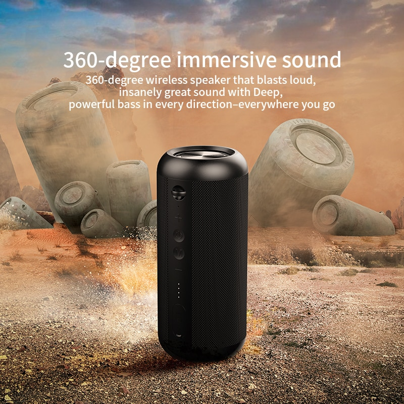 Bluetooth Speakers 30W Dual Horn Stereo with IPX7 Waterproof Subwoofer 12H Playtime Superior Sound Camping Beach Sport Party enlarge
