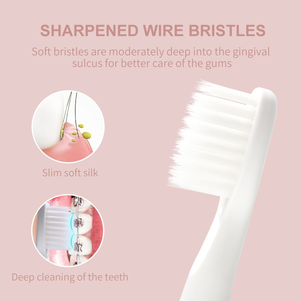SEAGO Sonic Electric Toothbrush 360 Upgraded Automatic Rechargeable Tooth Brush Waterproof  Replacement Brush Heads Gift SG548 enlarge