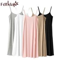 fdfklak summer new modal m 5xl sleepwear women nightdress womens ladies nightgown sexy nightwear plus size home sleep dress