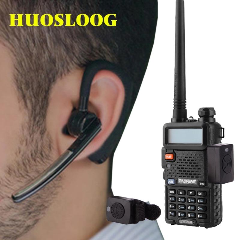 Walkie Talkie Wireless Headset Walkie Talkie Bluetooth Headset Earpiece Two Way Radio Headphone Earphone For Kenwood BaoFeng 5R