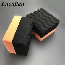 Lucullan Make Detailing Easier Honeycomb Tire Dressing Applicators Portable Car Interior Waxing Sponge