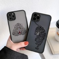 totem animal tiger hard cover for iphone 12 mini case leopard phone cases for iphone 11 pro max 7 8 6 s plus se 2020 x xr xs max
