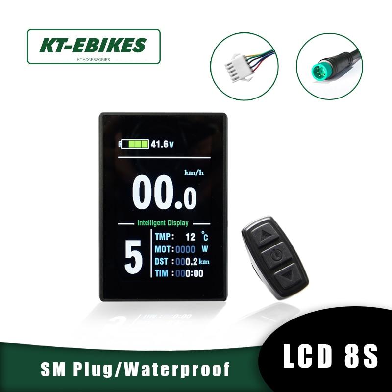 KT Ebike Kunteng LCD8S lcd8h lcd8 USB اللون E الدراجة الكهربائية الدراجة دراجة عرض تحويل عدة اكسسوارات KT LCD 8 عرض