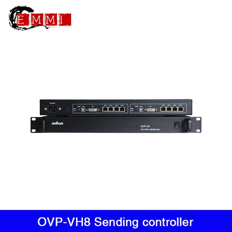 onbon ovp vh8 display led que envia o controlador 8 portas ethernet suporte