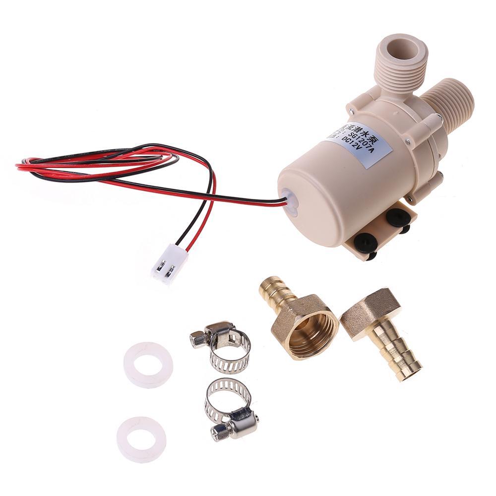 Pompe à eau chaude/de refroidissement Submersible solaire de cc 12V Circulation pompes à haute pression de moteur sans brosse de 212 degrés F