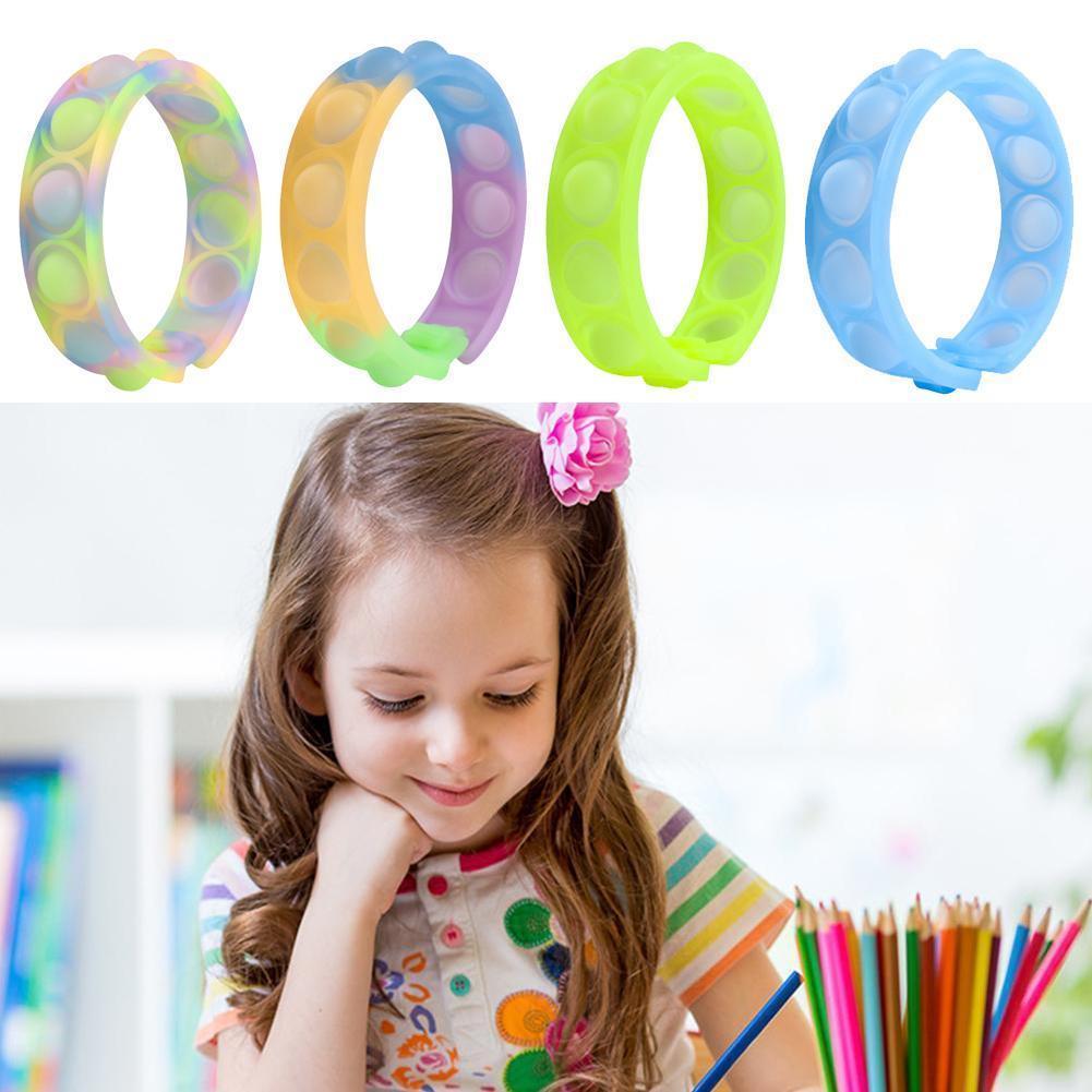 Детская головоломка декомпрессионная силиконовая игрушка-браслет на палец музыка новогодние подарки