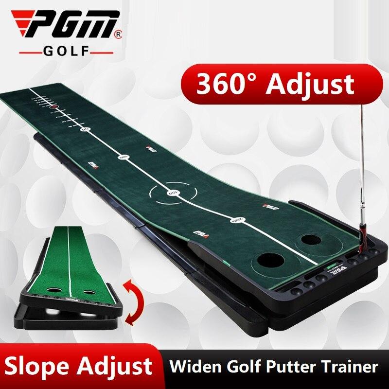 Pgm 3M palo de Golf para interiores entrenador estera de entrenamiento de Golf Putter ajustable pendiente verde Putter Mini Golf Putting Green de Mat