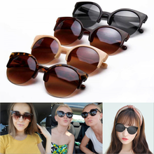Cat Eye Sunglasses Women 2020 New Fashion Classic Half Frame Eyewear Black Lens Sun Glasses