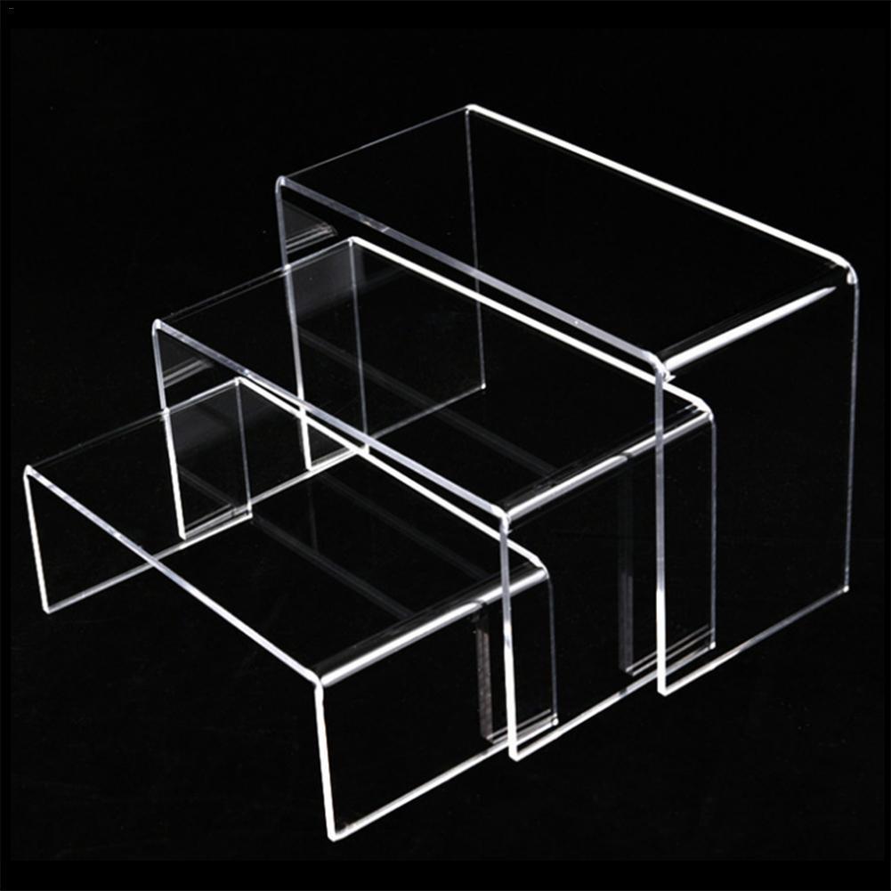 Soporte de exhibición de acrílico transparente de 6 piezas, soporte de exhibición de joyería multifuncional, expositor de tubo, expositor de zapatos de cosméticos