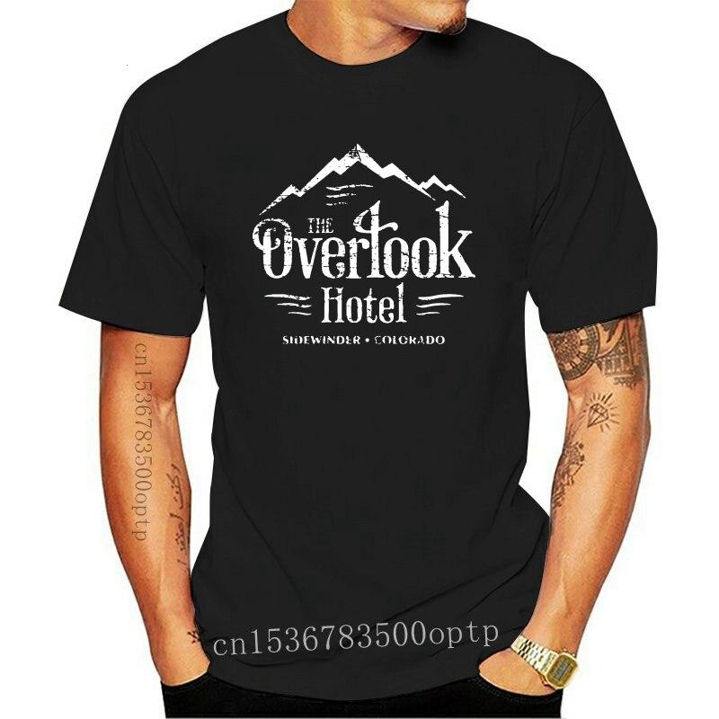 New Stephen King T Shirt The Overlook Hotel T Shirt Worn Look T Shirt Print Funny Tee Shirt Fashion Cotton Short Sleeve Male Tsh
