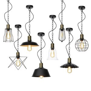 American country style retro art chandeliers,bar restaurant living room decoration pendant lamp,iron creative chandeliers