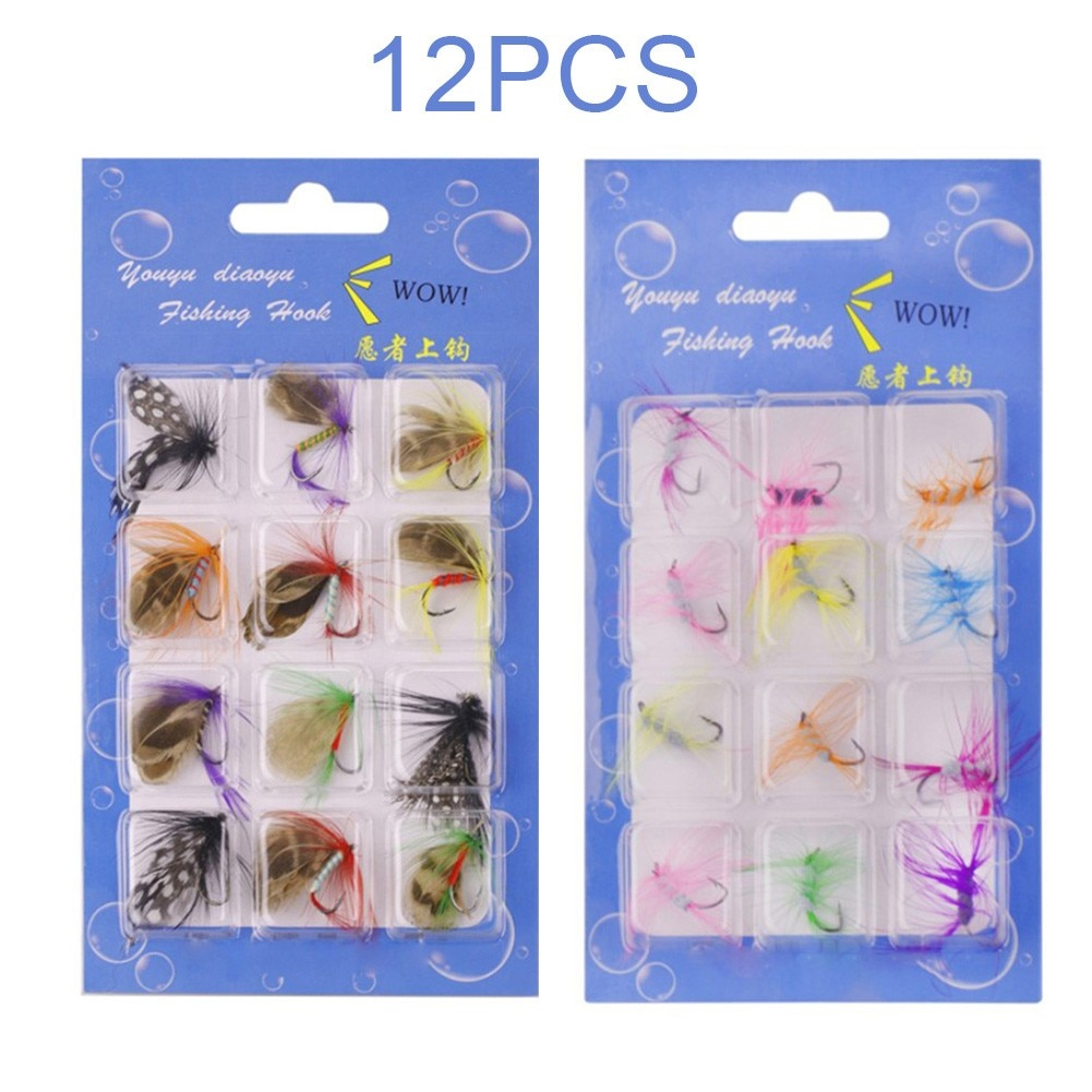 smalley fishing flies 12Pcs/Set Insects Flies Fly Fishing Lures Bait High Carbon Steel Hook Fishing Wet Flies Bug Hooks Fish Catching Tool Pesca Iscas
