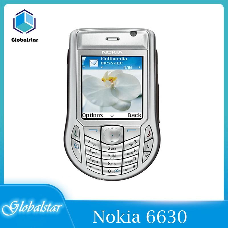 نوكيا-6630 6630 هاتف خلوي مجدد أصلي ، 2.1 بوصة ، GSM 3G Symbian 8.0s ، مع ضمان لمدة سنة ، شحن مجاني