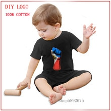 2020 Flag of Philippines on a Raised Clenched Fist Newborn Baby Short Sleeved Cotton Jumpsuit Summer