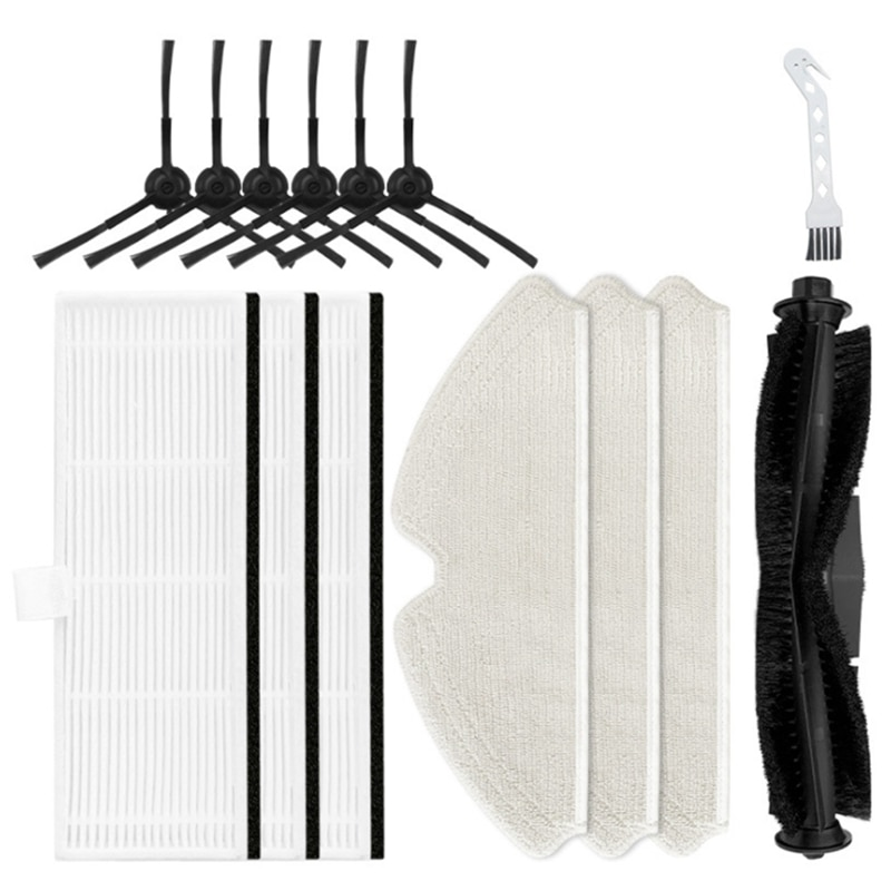 Main Brush Side Brush Filter Mop Cloth Sweeping Robot Replacement Accessories for Kyvol Cybovac S31