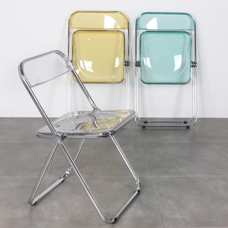 Прозрачное акриловое обеденное кресло ins, стул, модное Сетчатое красное фото, магазин одежды, макияж, складное стул, сиденья для кинотеатра