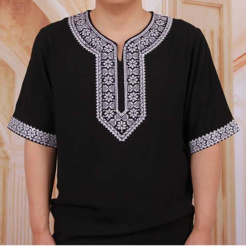 lehenga Muslim T-shirt Cotton African Nigeria men Clothes print Ankara lehenga Tops