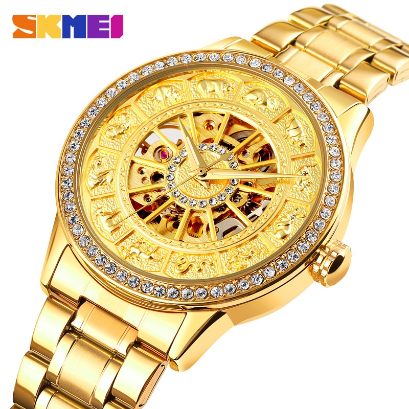 2021 SKMEI Brand Automatic Mechanical Watch Men Wrist Watches Fashion Luxury Quartz Watches Business Men's Clock Stainless Steel
