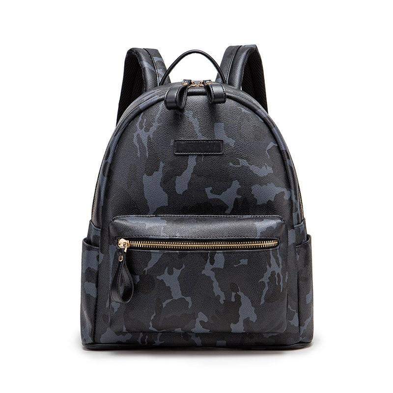 Новый модный рюкзак с камуфляжным принтом, кожаный вместительный студенческий рюкзак, водонепроницаемая сумка для ноутбука