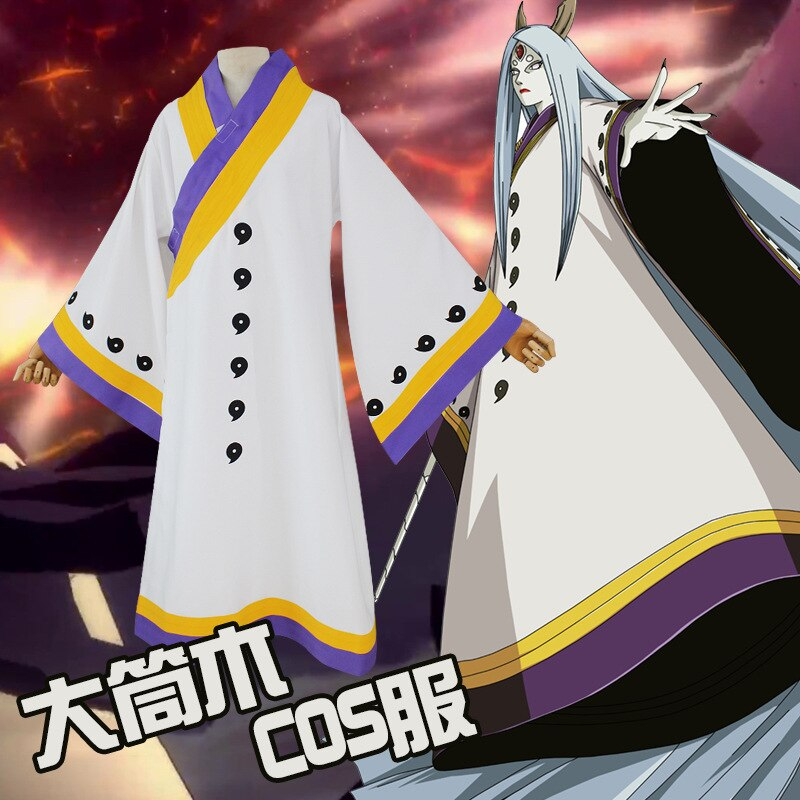 Anime naruto Ootutuki Kaguya cosplay traje itachi ropa caliente anime akatsuki manto Uzumaki Naruto cosplay disfraz de Halloween