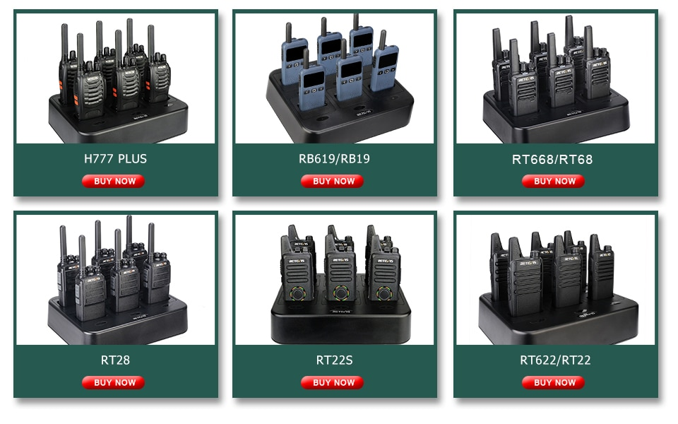 RT668 Walkie Talkie 6 PCS PMR 446 Two-Way Radio Walkie-Talkies communication equipment Rechargeable for Hotel Restaurant enlarge