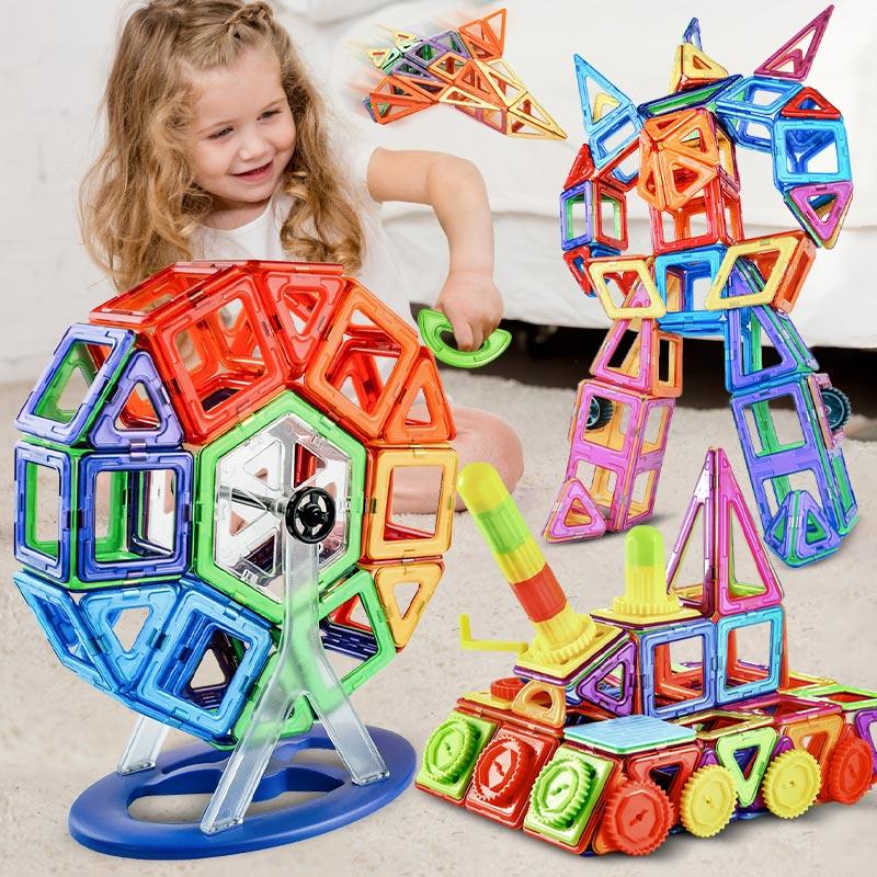 ZKZC Big Size Magnetic Designer Magnet Building Blocks 180pcs Construction Set Magnetic Bircks DIY Toys For Children Gifts