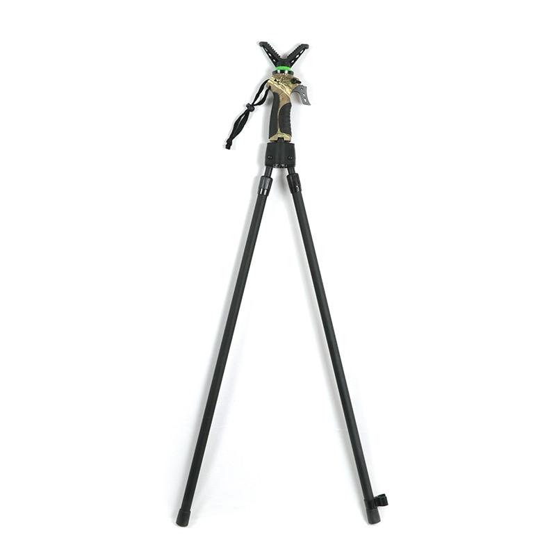 عصا اطلاق النار التليسكوبية ذات التحكم بمقبض واحد ارتفاع قابل للتعديل على شكل حرف V عصا صيد احترافية