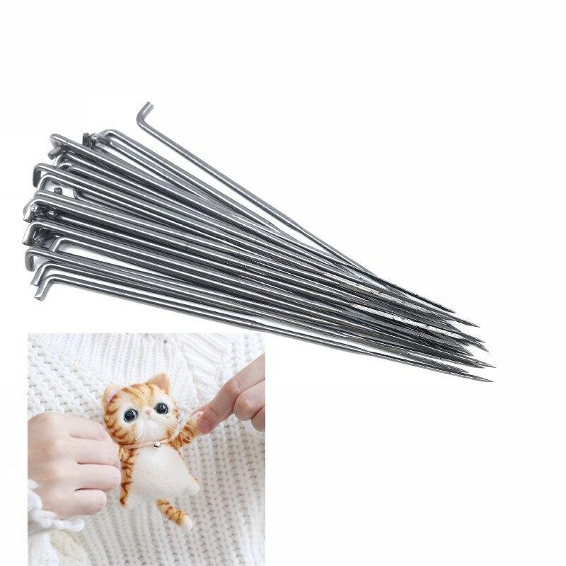 10 pces quentes s/m/l tamanho lã felting broche boneca ferro agulhas sentiu kit de ferramentas iniciantes agulha diy artesanato poke agulha feltro