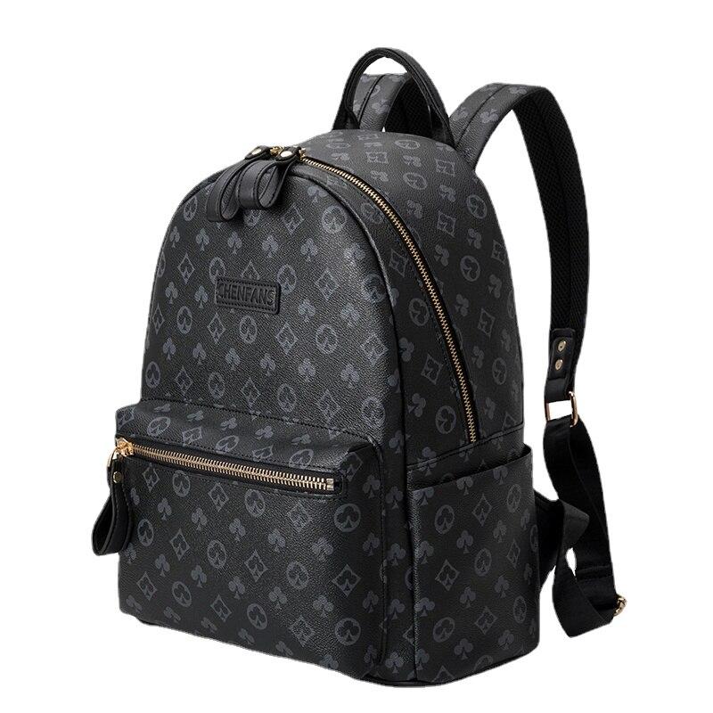 Sac à dos de voyage en cuir imprimé pour homme, sacoche de voyage à la mode pour ordinateur portable/Mochilas/cartable