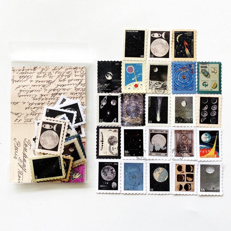 46-lenzuola-bag-timbro-di-disegno-dello-spazio-della-luna-a-piedi-decorativo-fai-da-te-bastone-adesivo-etichetta-notebook-album-decor