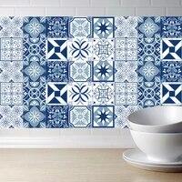 Autocollants muraux pour carreaux de cuisine  autocollant dart nordique decoration bricolage etanche  de conception moderne mediterraneenne