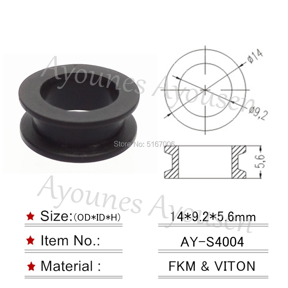 hot sale 8pcs Fuel injector upper seals grommet for toyota lexus honda car replacement parts repair kits free shipping