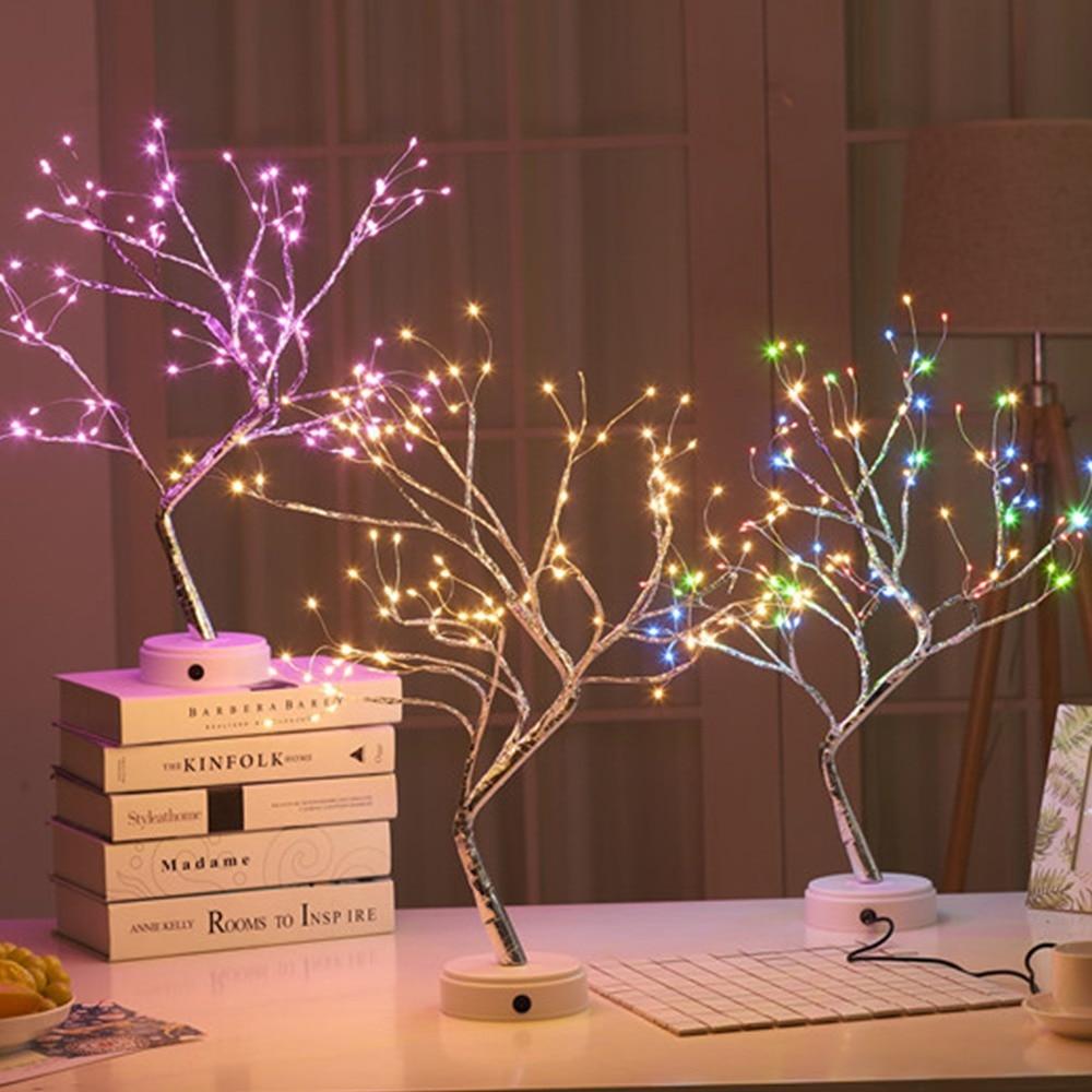 Coquimbo 36/108 LEDS Night Light Bonsai Tree Light Gypsophila Lights Home Party Wedding Indoor Decoration Night Light enlarge