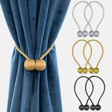 1 adet yeni manyetik top yeni inci perde basit asılı top perde klip perde inci kravat halat keryesi tutucu perde aksesuarı