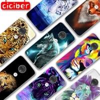 lion tiger wolf phone case for motorola moto g10 g9 g8 g7 g5 g5s g6 e5 e6 e7 plus play power soft silicone tpu protection fundas