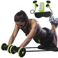 ab wheel roller sport bodybuilding revoflex xtreme dobule wheels ab roller pull rope abdominal trainer gym equipment abs trainer