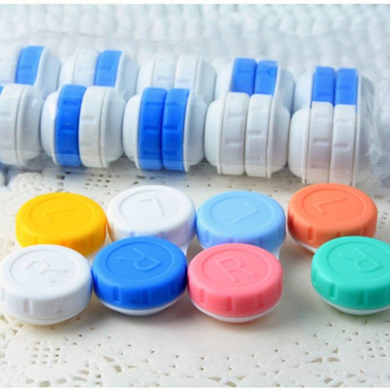 10 шт./лот, чехол для контактных линз, футляр для глаз, переносной контейнер для хранения, футляр для контактных линз