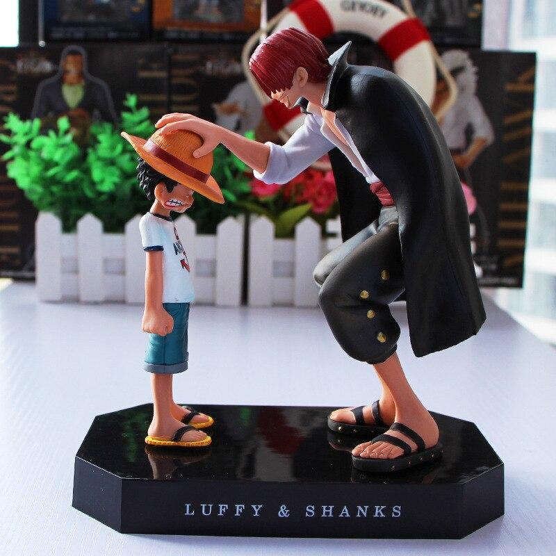 15cm Anime 원피스 4 황제 정강이 밀짚 모자 Luffy PVC 액션 피규어 Going Merry Doll Collectible Model 장난감 입상