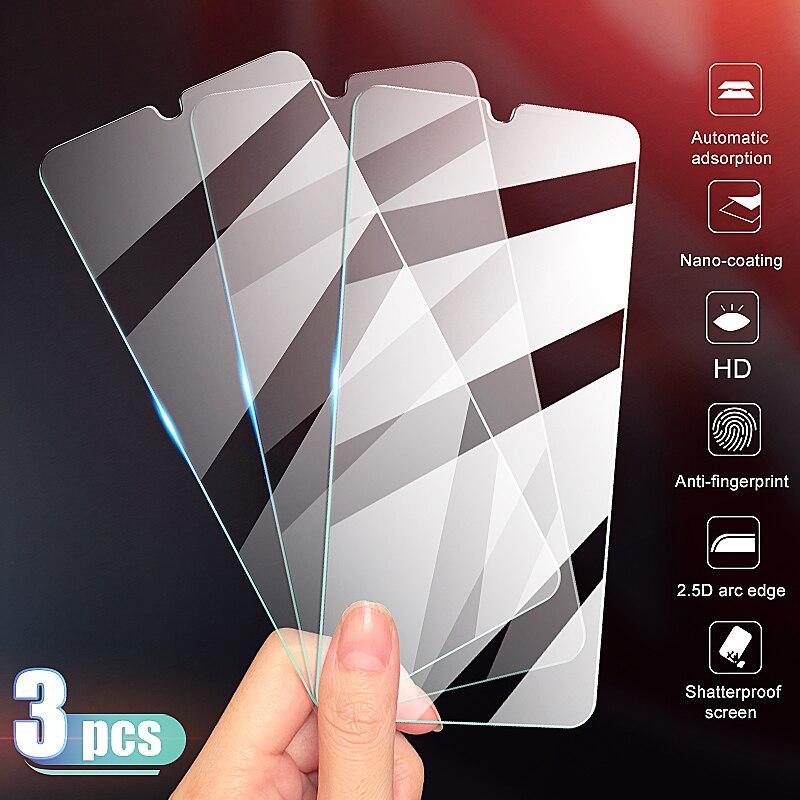 3Pcs Vidro Protetor De Tela de Vidro Temperado Para Samsung Galaxy A30 A50 Samsung A10 A20 A40 A60 A70 A80 A90 A01 A51 A71 A20E Vidro