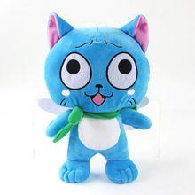 Fairy Tail Figure Happy Blue Cat Plush Doll Stuffed Animals Kids Toys Great Gift  30CM