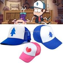 Gravité chutes Dipper casquette chapeau Mabel Dipper casquettes chapeau Dipper Cosplay Cool printemps été Cosplay Baseball maille casquette Sport chapeau