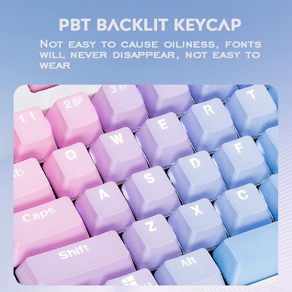 104 клавиш закат с градиентной подсветкой колпачки клавиш толстый PBT OEM профиль для переключателей Cherry MX механической клавиатуры с кнопкой Съ...