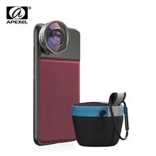 APEXEL HD 8mm 185 degrés super fisheye objectif 4K professionnel téléphone portable caméra lentille pour iPhone7 8 xs maxhuawei Xiaomi téléphone portable