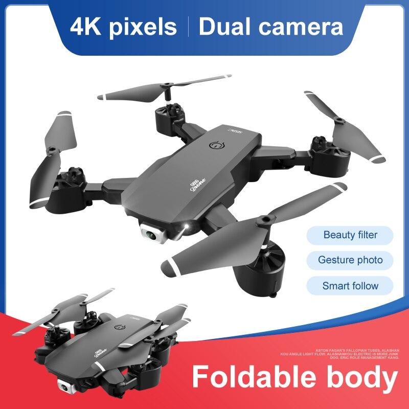 طائرة بدون طيار صغيرة APP جديدة بدقة 4K 1080P مزودة بكاميرا عالية الدقة تعمل بالواي فاي وخاصية Fpv لعبة طائرة رباعية بدون طيار تعمل بالضغط الجوي بال...