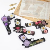 diy pistol ak gun shape fondant soap 3d cake silicone mold cupcake jelly candy chocolate decoration baking tool moulds