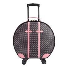 Personnalité mode 22 pouces haute qualité Imitation cuir roulant bagages Spinner marque internationale valise de voyage