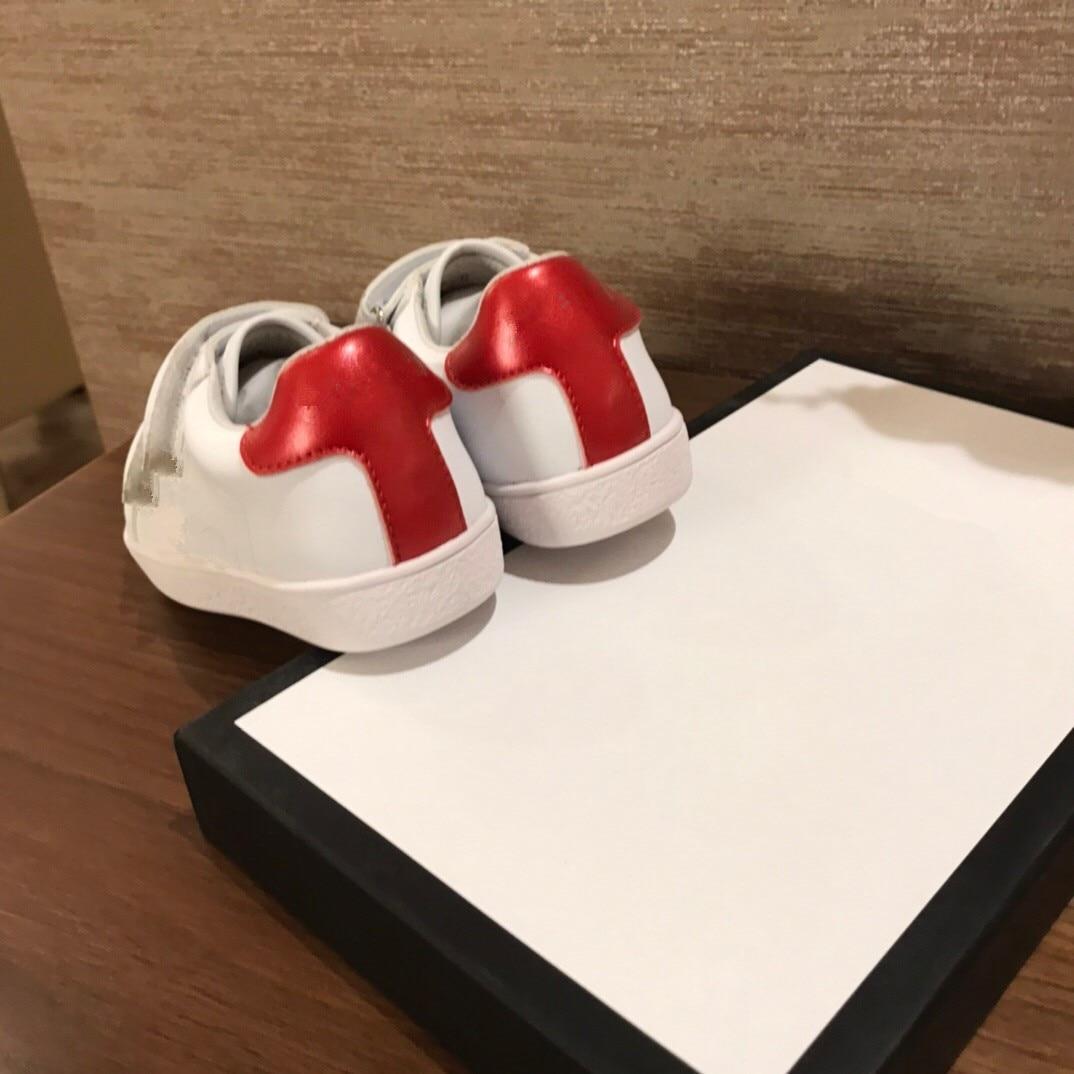 الراقية حذاء للأطفال الرجال والنساء الفيلكرو حذاء أبيض صغير جديد بابا أحذية الأطفال أحذية رياضية سميكة سوليد