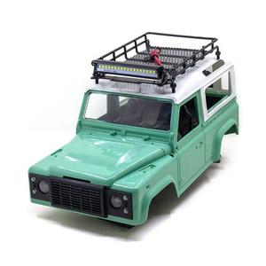 RC Car Roof Luggage Rack Car Roof Lights Set For Tamiya 1/10 Scx10 Cc01 Rc4wd D90 Rc Climbing Truck Model Decor Simulation