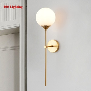 Long arm Bedside LED Wall Sconce Living room Wall Lamp Bathroom Hotel Room Wall Light Smoke Glass Home Light Fixture Nordic Lamp